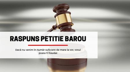 Raspuns Petitie Barou