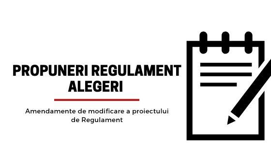 Amendamente de modificare a proiectului de Regulament